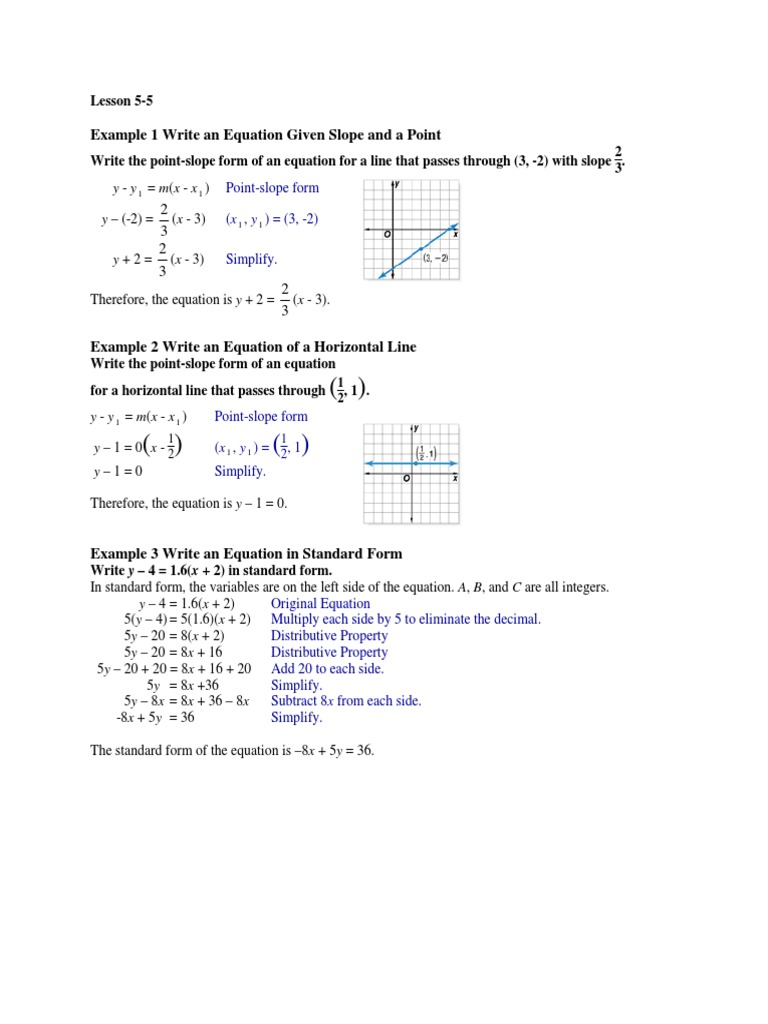 Math Lesson 55pdf Equations Mathematical Problem Solving