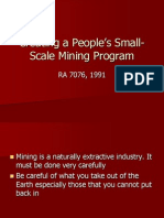 Creating a People_s Small-Scale Mining Program
