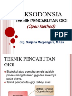 Eksodonsia Open Method