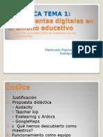 HERRAMIENTAS DIGITALES PARA EL ÁMBITO EDUCATIVO