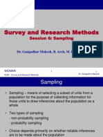 SURVEY AND RESEARCH METHODS
