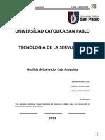 Caja Arequipa - Analisis Servuccion