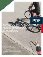 Impactul Socio Economic Al Sistemului Coca Cola in Romania
