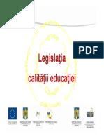 Legislatia calitatii