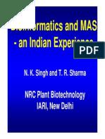 Bioinformatics and MAS