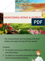 Monitoring Intake & Output