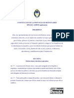 Constitucion de La Provincia de Buenos Aires