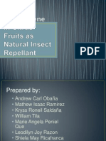 D-Limonene in Citrus Fruits as Natural Insect Repellant