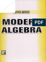 Modern Algebra (Golden Maths Series)