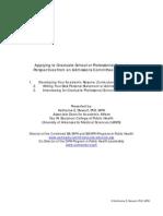 Applying to Graduate School or Professional School Workshop Handout