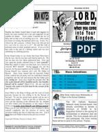 St. Augustine Catholic Church Sunday Bulletin, November 24, 2013