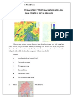 Tugas Statistika Untuk Geologi