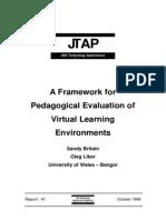 A Framework for Evaluation of VLEs