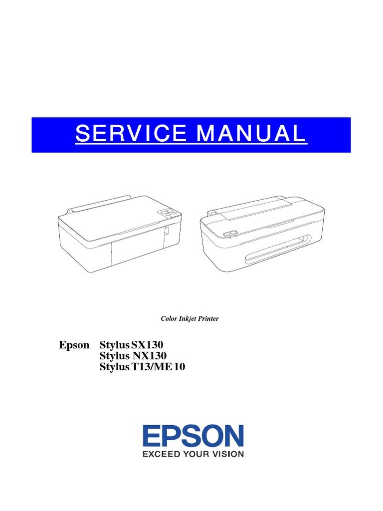 service manual epson sx130 sx125 housekeeping bearing mechanical rh scribd com epson stylus sx130 user guide epson printer sx130 user guide