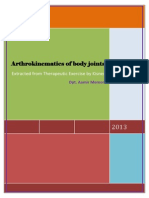 Arthrokinematics of Body Joints Final
