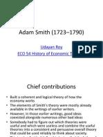 contribution Adam smith