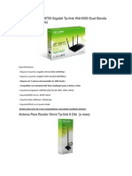 Router Wireless N750 Gigabit Tp