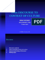 From Discourse to Context of Culture