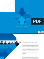 Underwriting Brochure MIB Solutions, Inc.