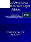 Legal Advice-Legal Information IICM 2011