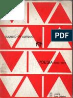 Poesia (1949-1979). Augusto de Campos