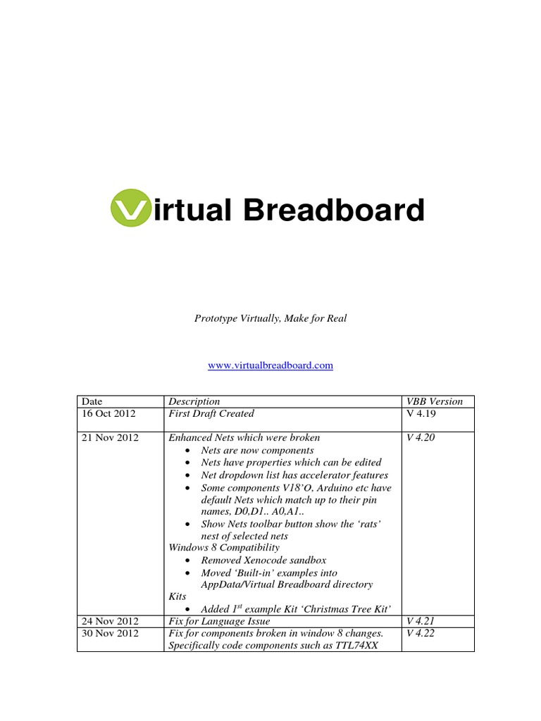 Vbb User Manual Source Code Java Programming Language Breadboard Simulator This Is How You Can Use The Program