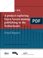 OAPEN Rapport_ a Project Exploring Open Access Monograph Publishing in the Netherlands_22102013
