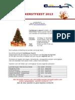 Kerstfeest Flyer 2013