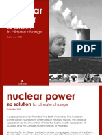 Nuclear Power No Solution to Climate Change