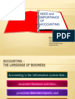 importance of accounts