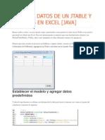Guardar Datos de Un Jtable y Abrirlos en Excel