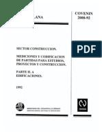 2000-2-1992 CODIFICACION EDIFICIOS