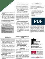 Safe Homes Act Brochure