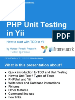 Php Unit Testing in Yi i