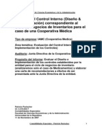 Análisis del Control Interno del ciclo Inventarios.Caso(7)