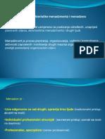 PPP II.. OSM;; Podjela i Karakteristike Menadzmenta i Menadzera