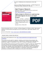 2010 High-Pressure Effects on Cooking Loss and Histological Structure of Beef Muscle