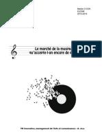 Le marché de la musique