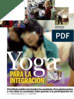 Yoga para la Integración, un reportaje del yoga en una escuela pública, escrito por Elena Garcia Queveda
