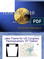 Jake Towne for US Congress PA-15 - Our Open Office ONLY (Aug 2009)