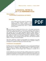 Anaslisis Musical Formalismo y Hermeneutica