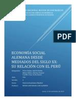 Economía Social alemana desde mediados del siglo XX su relación con el Perú