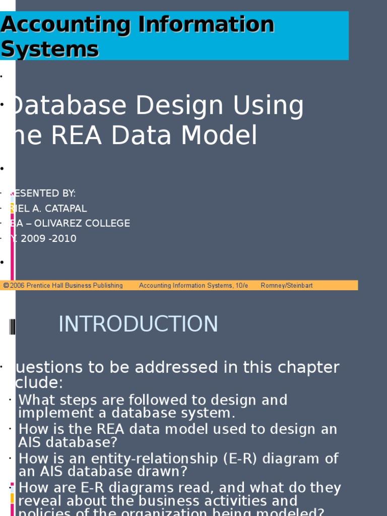 Aisapter 15 rea model conceptual model data model ccuart Choice Image