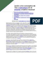 Aproximación a los conceptos de forma y estructura en el pensamiento creativo musical
