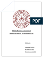 Demand Forecasting Report Polyester Filament Yarn
