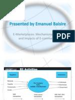 E-Marketplaces by Emanuel Baisire