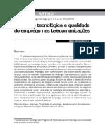MOCELIN, Daniel Gustavo. Mudança tecnológica e qualidade do emprego nas telecomunicações
