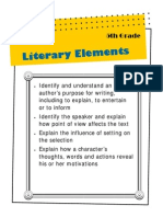 Literary Elements for Grade 5