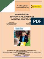 COOPERATIVAS, DIRECTIVOS Y CONTROL CORPORATIVO (Es) CO-OPERATIVES, EXECUTIVES AND CORPORATE CONTROL (Es) KOOPERATIBAK, ZUZENDARIAK ETA ZAINTZA KORPORATIBOA (Es)