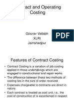 5. Contract Costing and Operating Costing